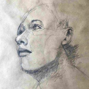 artiste peintre moderne contemporain portraits fusain