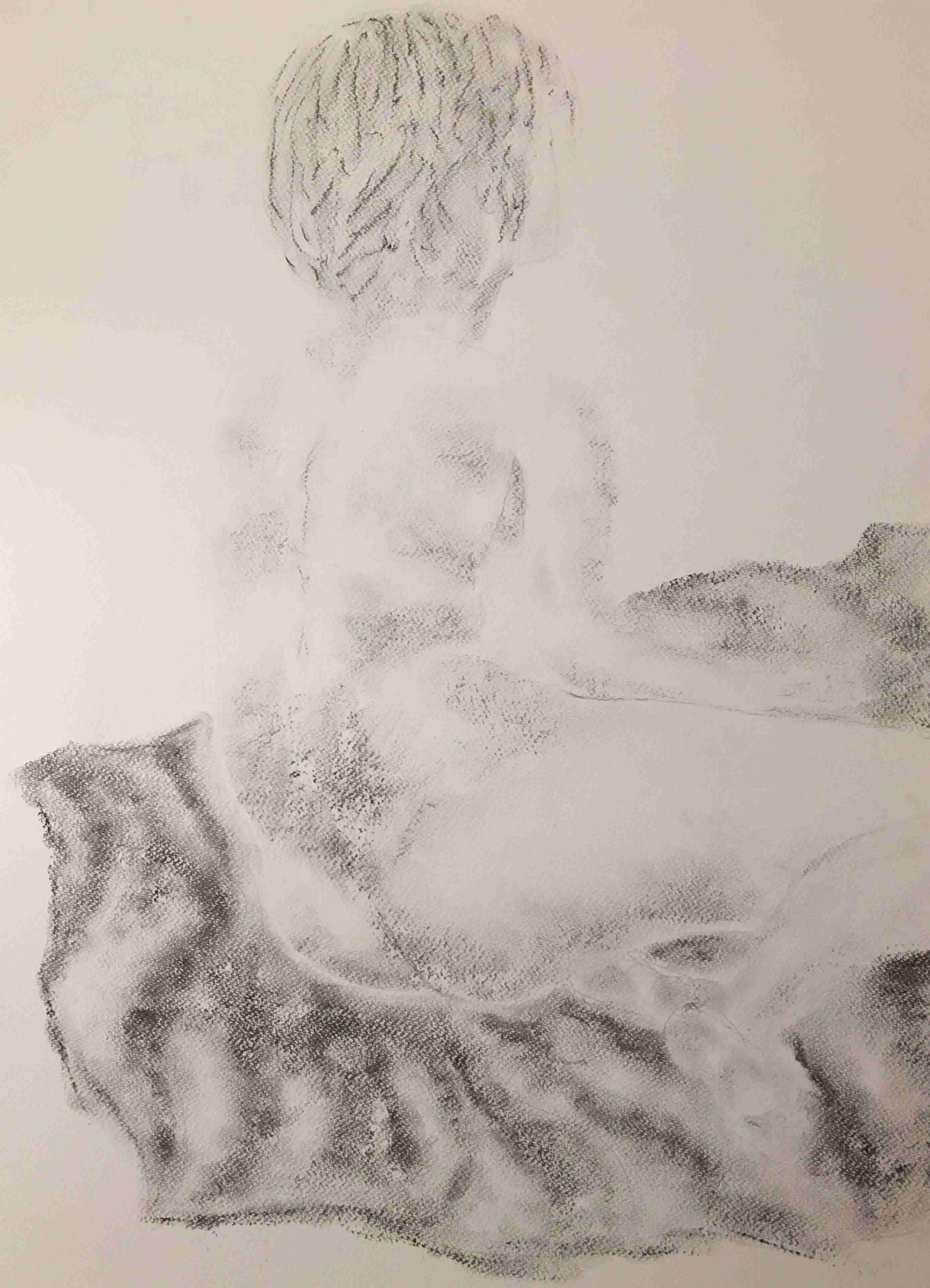 artiste peintre moderne contemporain nus fusain Monor 2018