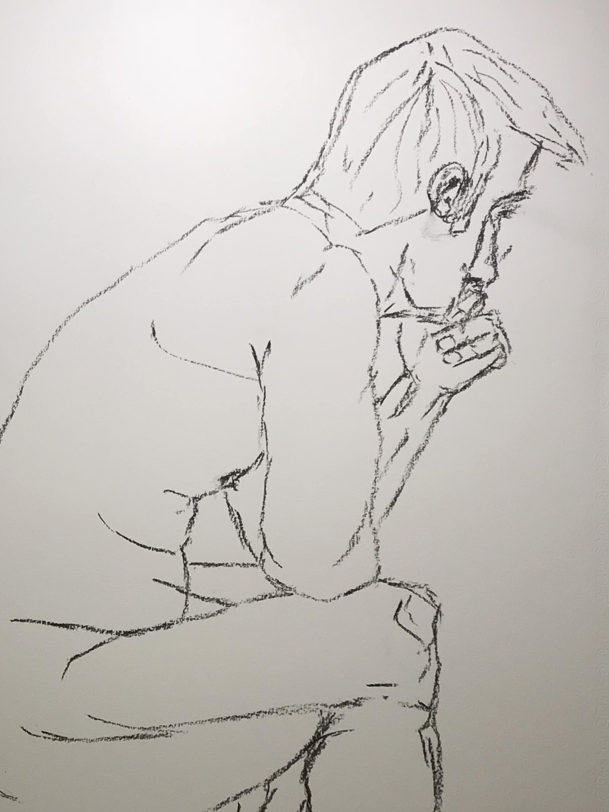 artiste peintre moderne contemporain nus fusain