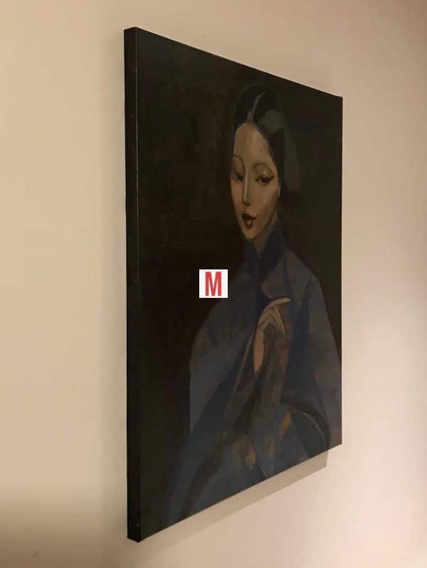 peinture à l huile portrait femme