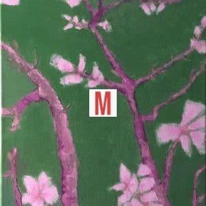 Tableau fleurs technique peinture a l huile