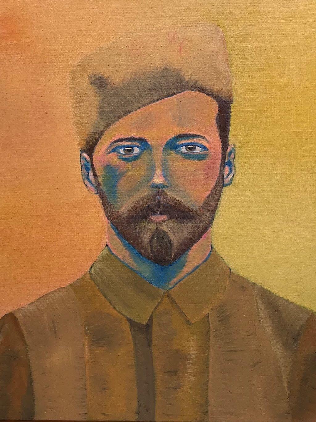 portrait peinture a l huile