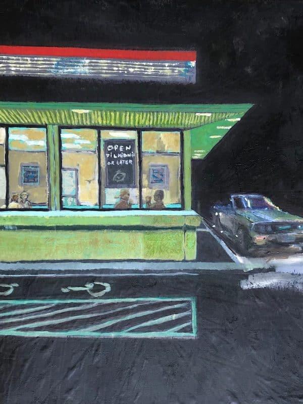 Tableau peinture a l huile moderne
